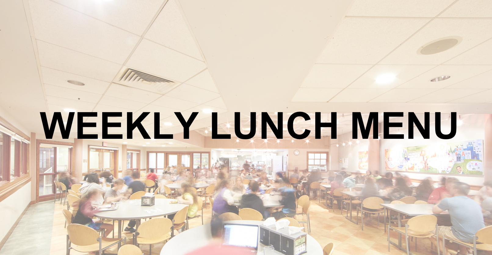 weekly lunch menu